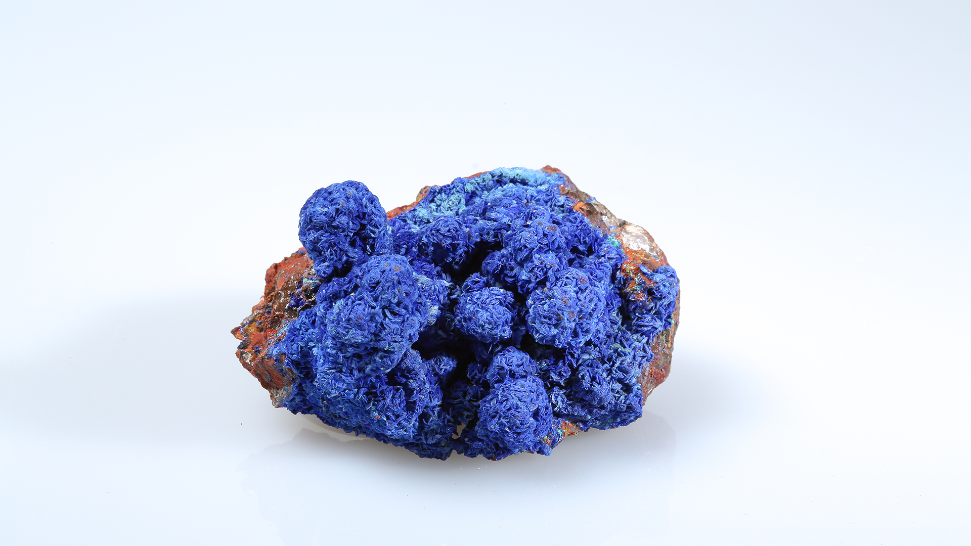 Azurite is a copper carbonate hydroxide mineral known for its deep-blue color.