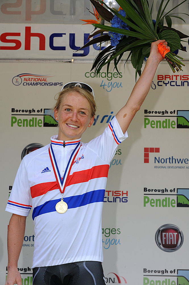 Emma Pooley wins women's title, British road race national championships 2010