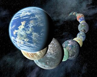 An artist's depiction of exoplanets.