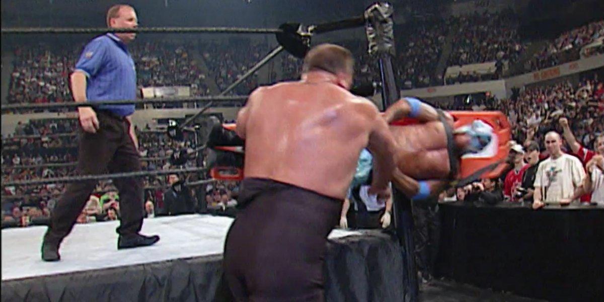 Big Show and Rey Mysterio at Backlash 2003