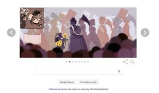 Google's doodle on March 8, 2017, celebrated 13 pioneering women, in honor of International Women's Day.