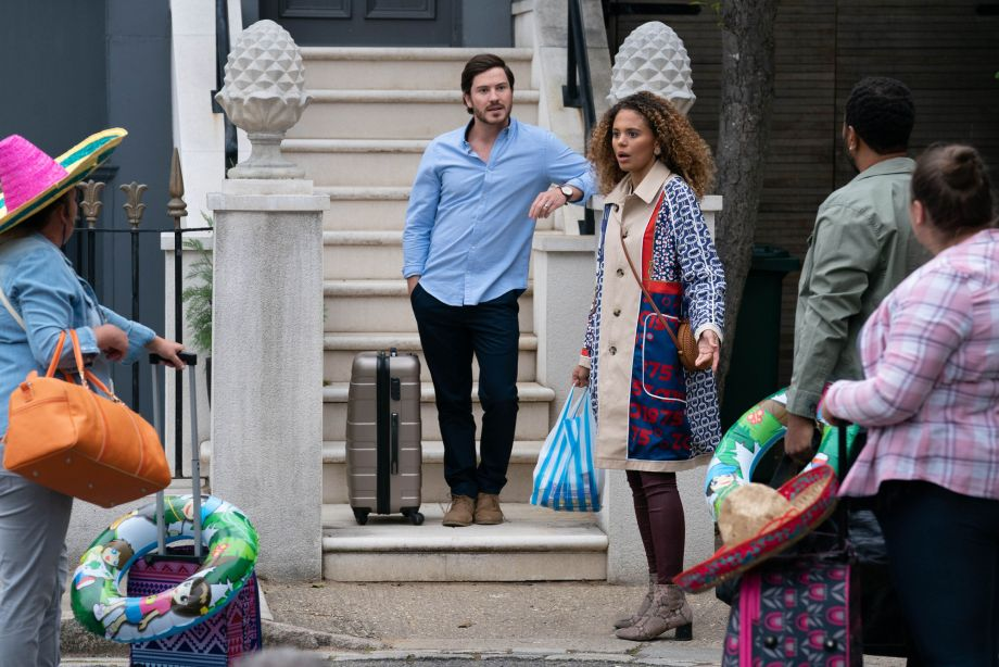 Chantelle Atkins and the Taylors in EastEnders