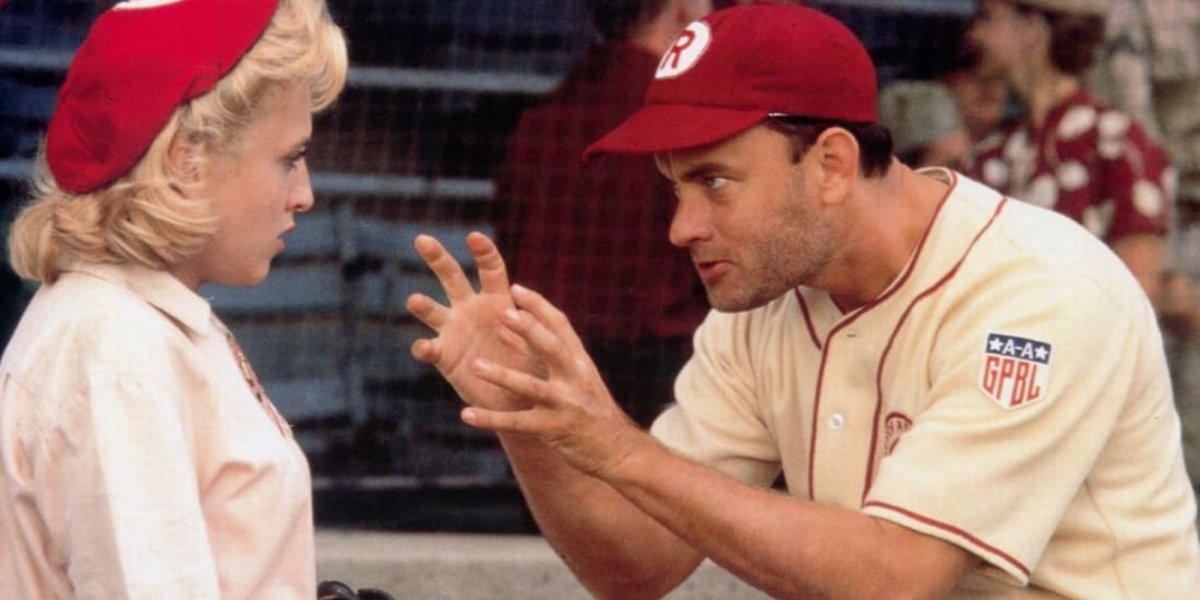 Bitty Schram and Tom Hanks in A League of Their Own
