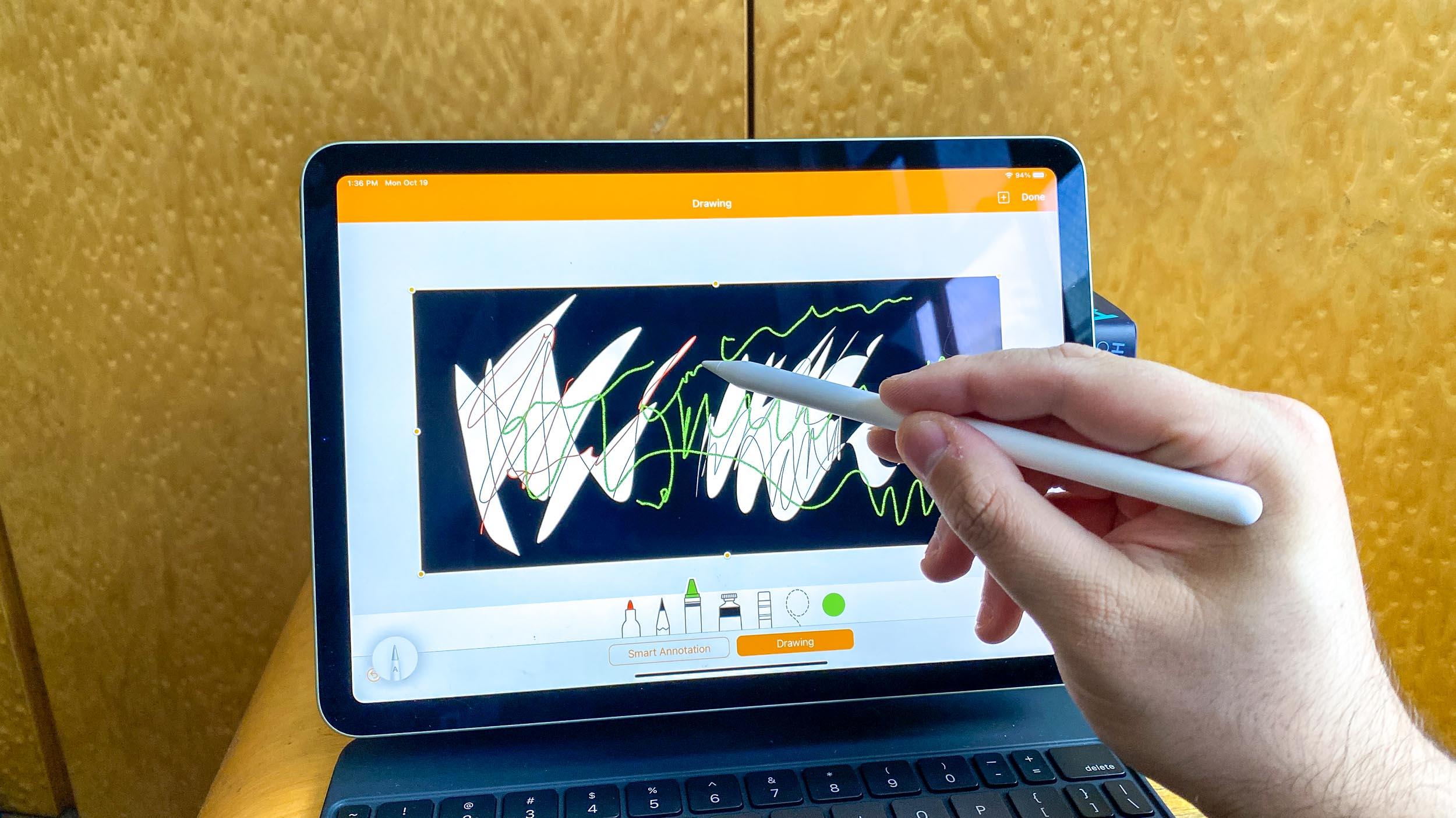 iPad Air 4 with magic keyboard and apple pencil