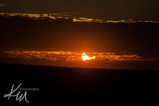 Partial Solar Eclipse Over Illinois
