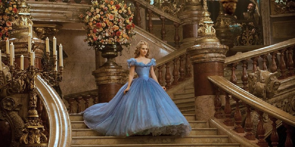 Lily James as Cinderella, the last live-action remake of the classic fairytale.