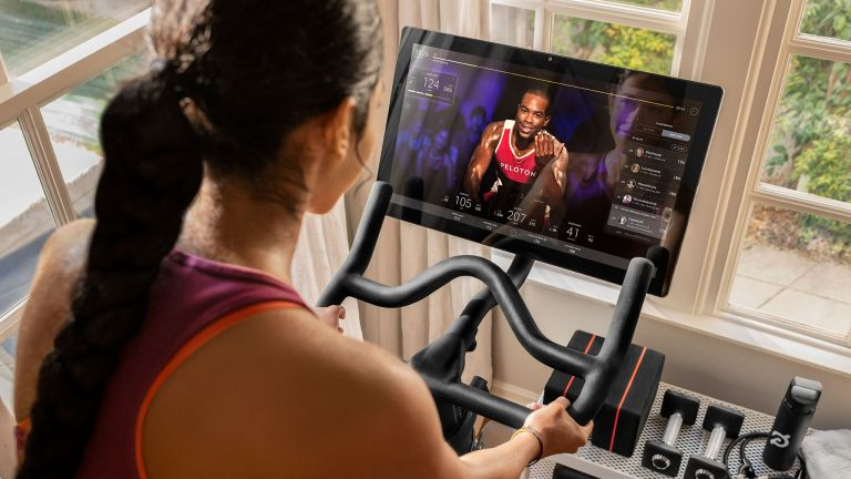 How to use an exercise bike: some bikes, like Peloton, have built-in screens