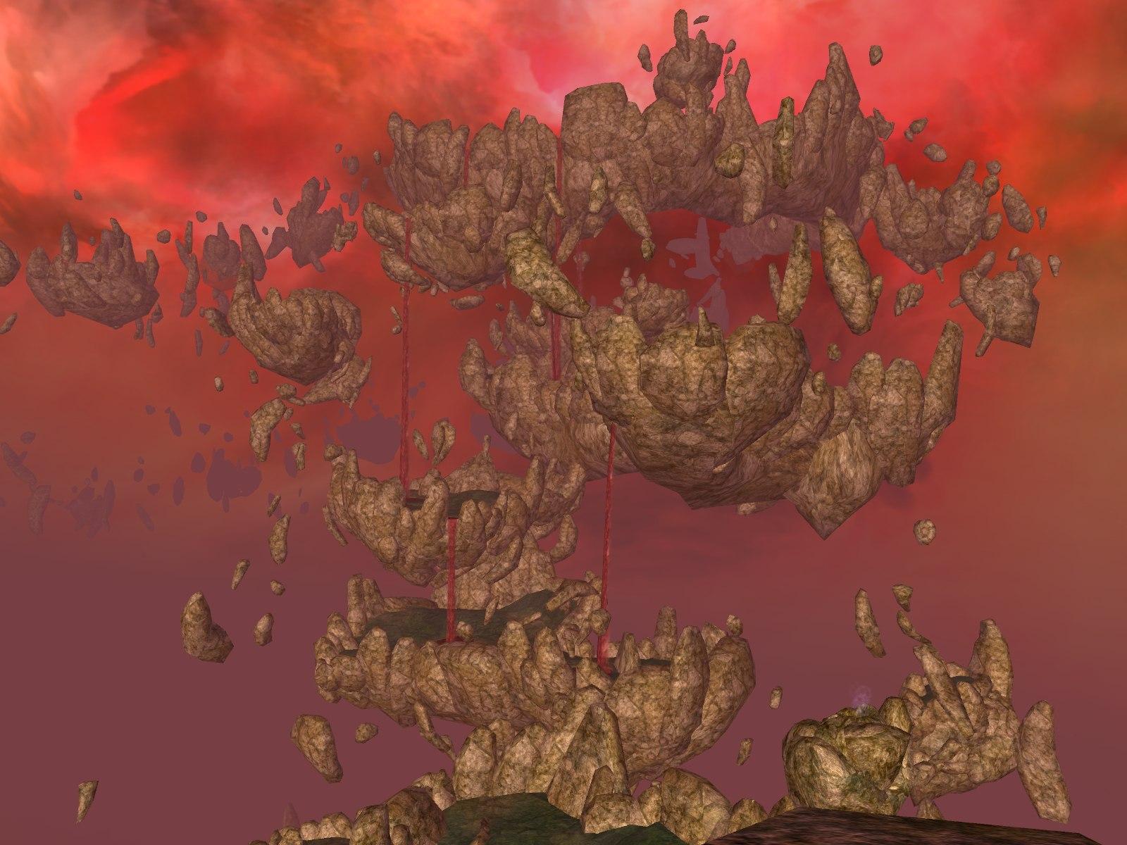 Floating islands of rock