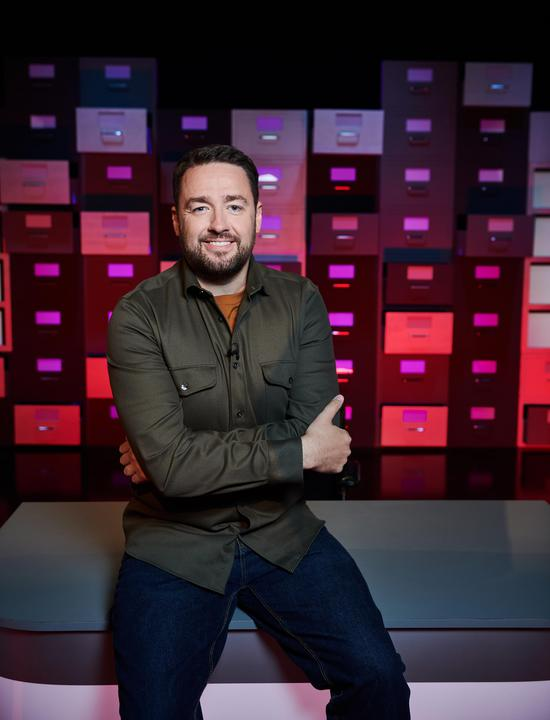 Jason Manford on the set of The Complaints Department