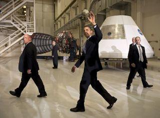 President Obama at KSC