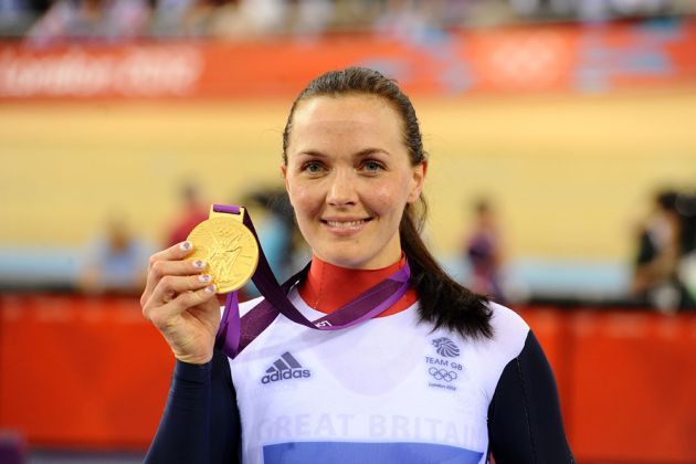 Victoria Pendleton wins keirin, London 2012 Olympic Games, track cycling day two