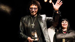 A photograph of Golden God Tony Iommi