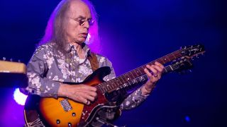 Musician Steve Howe performs on stage with Yes on August 18, 2014 in San Diego, California.