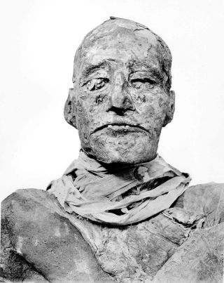 The mummy of Ramesses III, who ruled Egypt from 1186 B.C. to 1155 B.C.