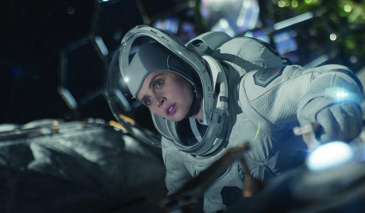 The Midnight Sky Felicity Jones on a dangerous spacewalk