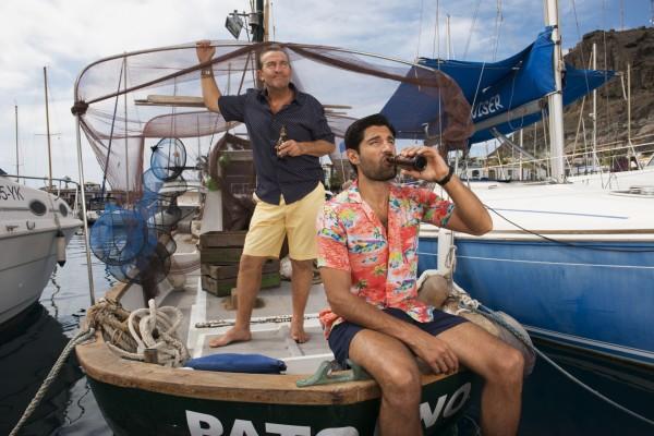 Kayvan Novak and Bradley Walsh in Sun Trap (Adam Lawrence/Happy Tramp/BBC)