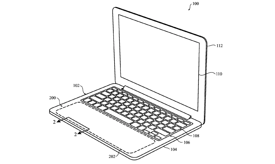 MacBook Pro 14-inch 2021: patent for all touchpad wrist rest