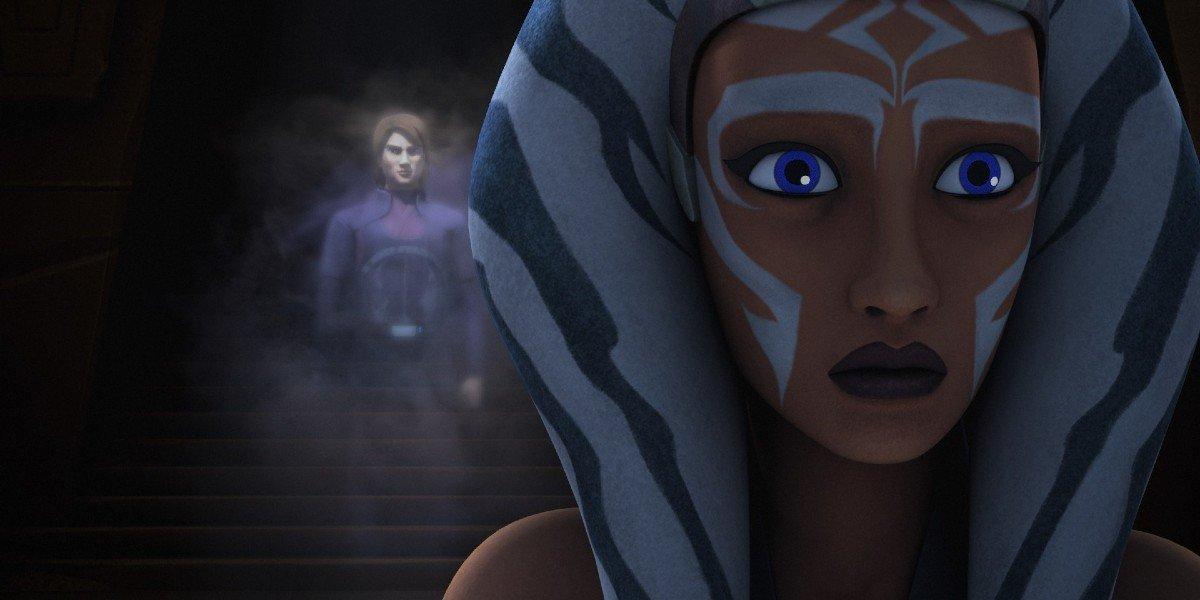 Ahsoka Tano and Anakin Skywalker on Star Wars Rebels