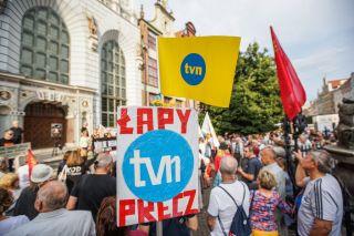 TVN protest in Poland