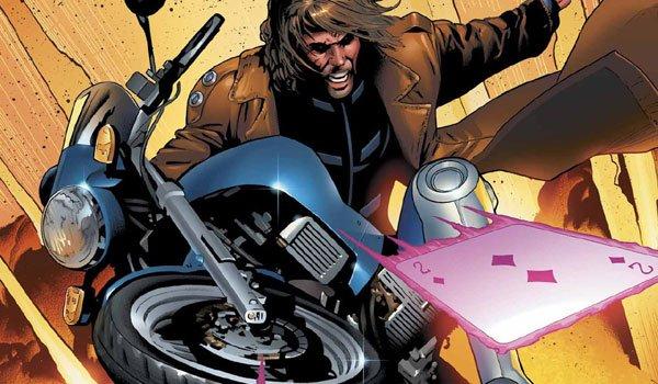 Гамбит с мотоциклетными комиксами