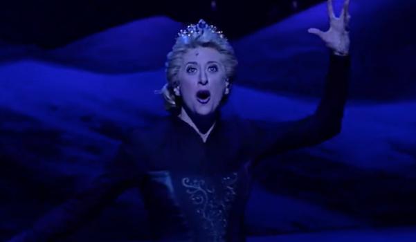 Elsa before her dress changes