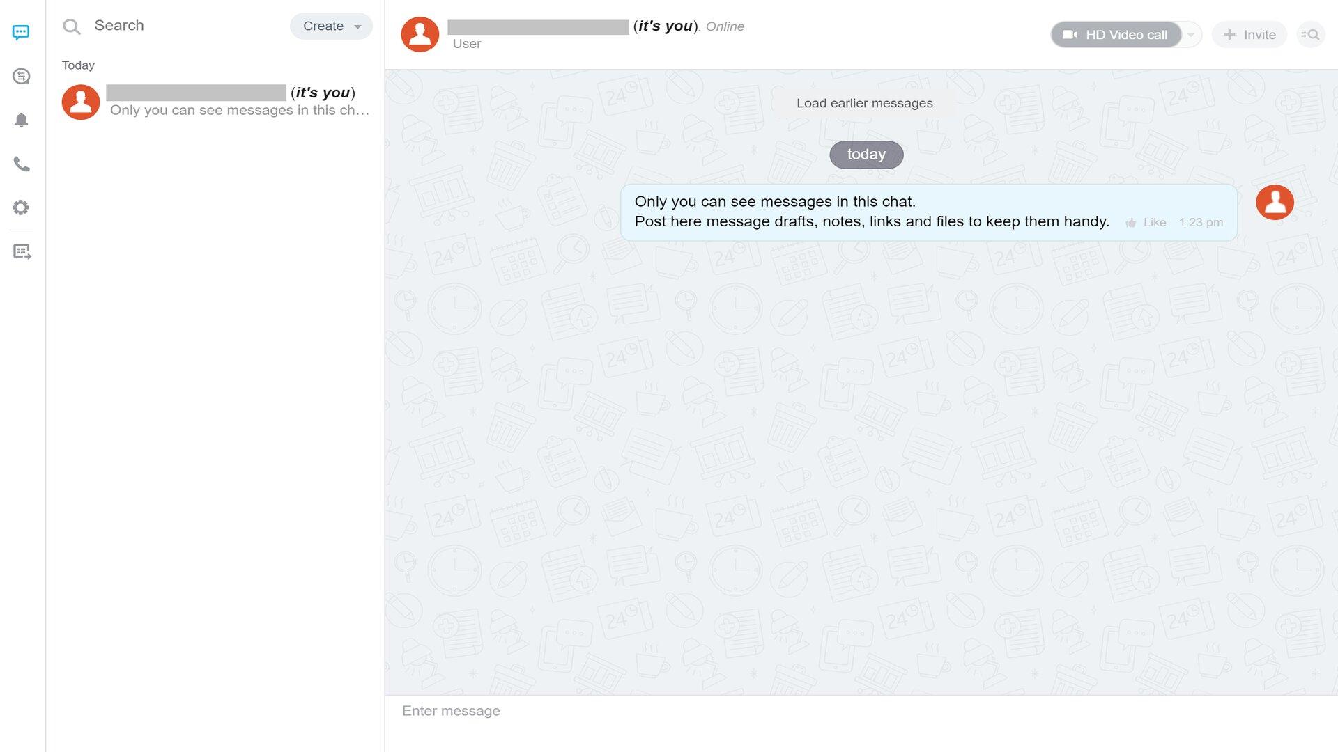 Bitrix24's chat service