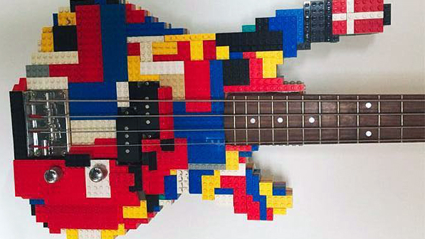 1,000 bricks make up this incredible Lego bass guitar