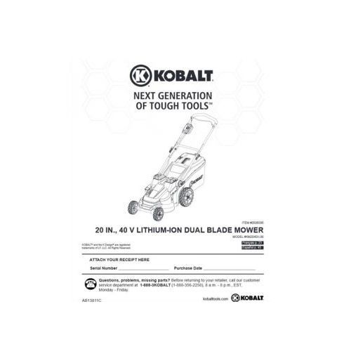 Kobalt 40-Volt Cordless Mower KM2040X-06 Review - Pros, Cons and