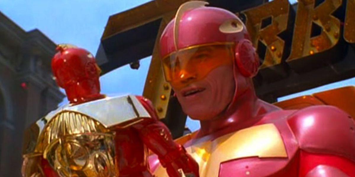 Arnold Schwarzenegger as Turbo Man in Jingle all the Way