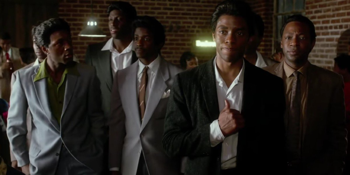 Chadwick Boseman and Nelsan Ellis in Get On Up
