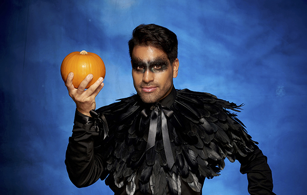 Strictly Come Dancing - shows Ranj with a pumpkin