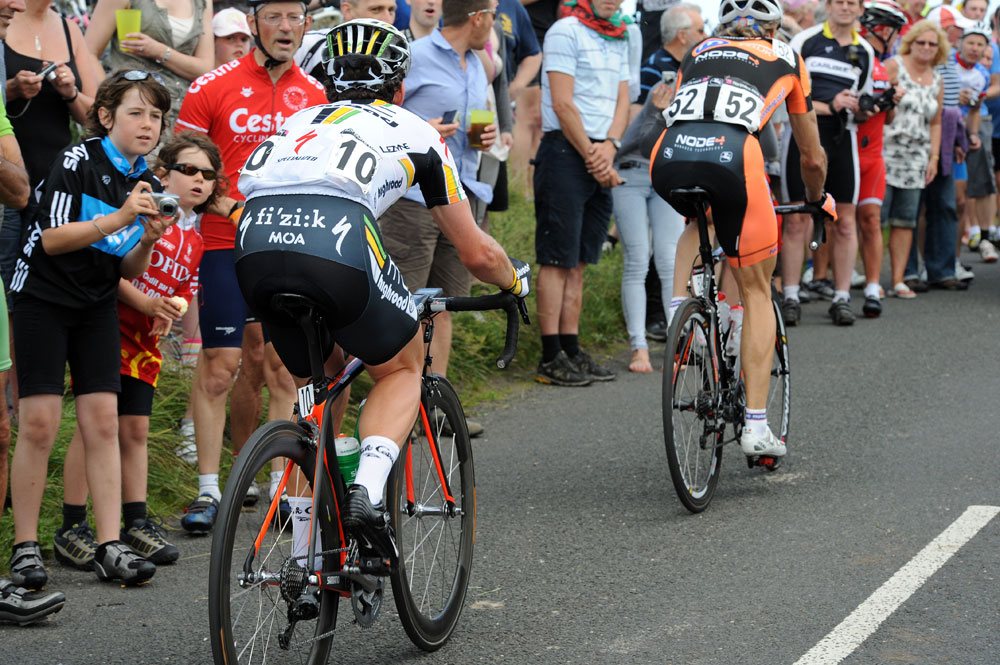 Mark Cavendish and Malcolm Elliott, British road race national championships 2011