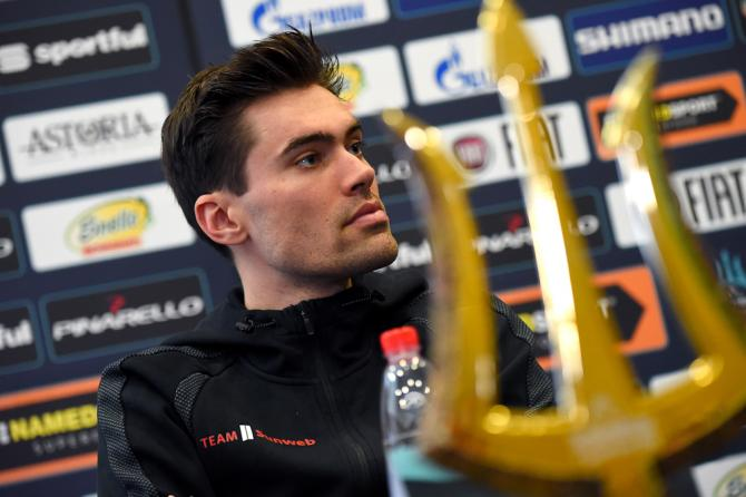 Tom Dumoulin at the Tirreno-Adriatico press conference