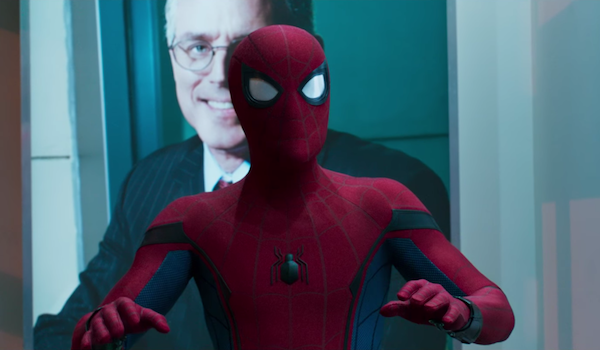 Spider-Man in bank in Spider-Man: Homecoming
