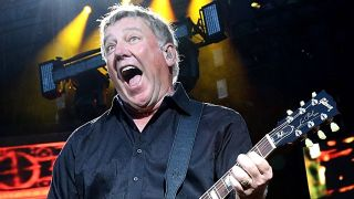 Alex Lifeson of Rush performs in concert at the Austin360 Amphitheater on May 16, 2015 in Austin, Texas