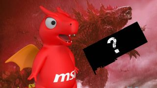 MSI lucky Dragon and Godzilla with mystery graphics card