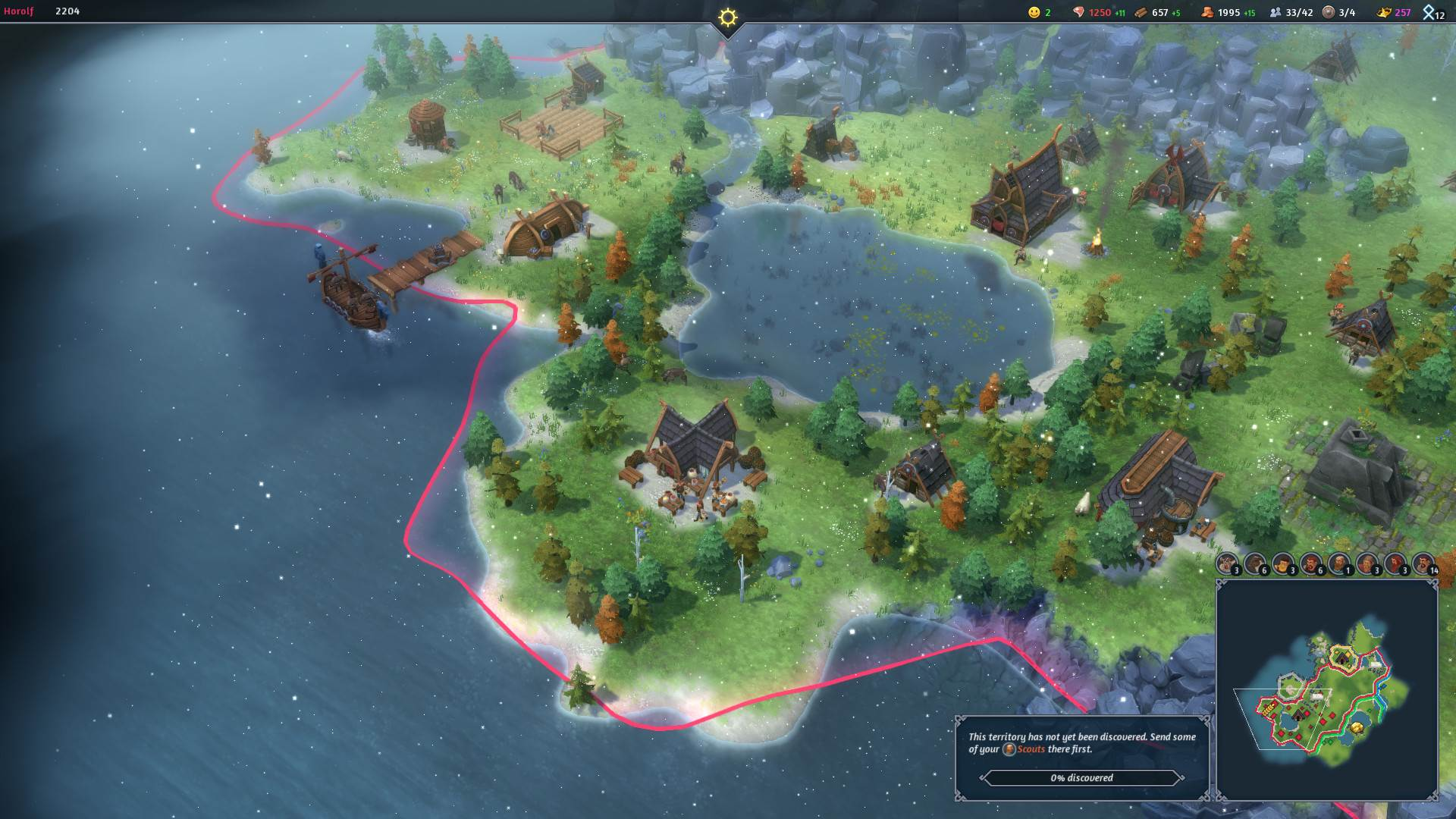 Northgard update adds Thor worship tiles and a new trading