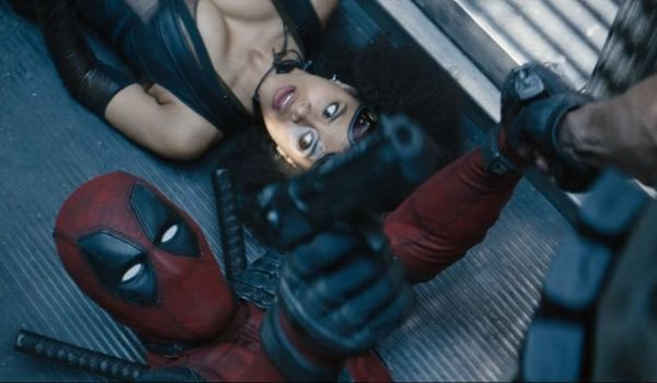 Deadpool and Domino in Deadpool 2