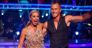Denise Van Outen looks delighted to be paired with James Jordan in the new series of Strictly