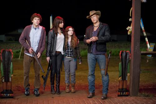 Zombieland - Jesse Eisenberg, Emma Stone, Abigail Breslin & Woody Harrelson star in this road-movie horror comedy