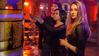 "Shailene Woodley, Zoë Kravitz and Miles Teller in ""Divergent."""