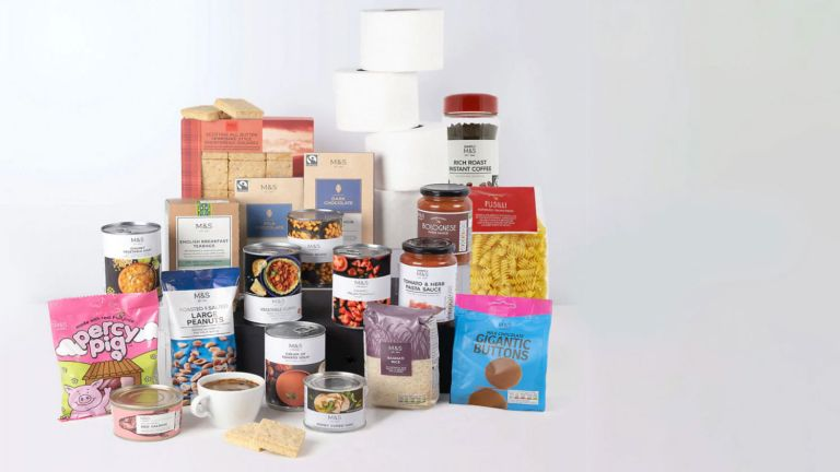 M&S food delivery boxes