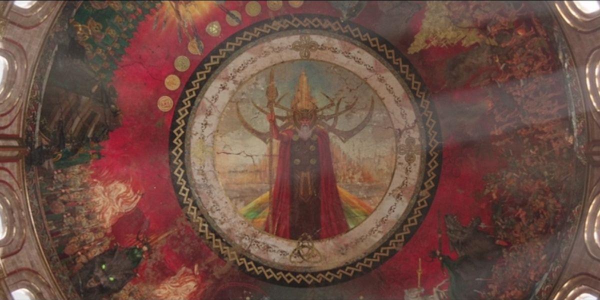 Odin mural in Thor: Ragnarok