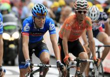 A battered Ryder Hesjedal (Garmin-Sharp) crosses the finish line in Metz more than 13 minutes off the pace.