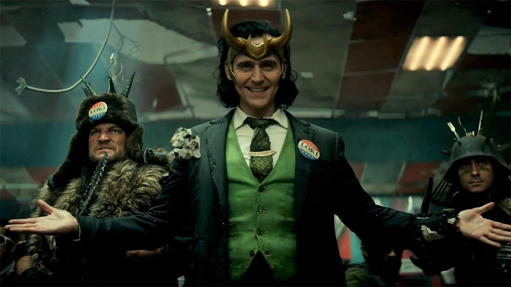 Tom Hiddleston as President Loki in Marvel's Loki season 1
