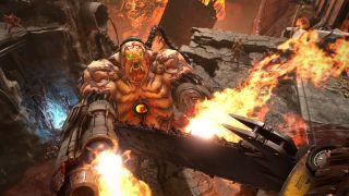 Doom Eternal Mancubus Fight Combat Doom Slayer