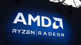 Logos for AMD Radeon and AMD Ryzen