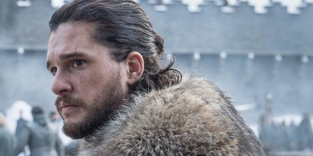 Kit Harington side profile as Jon Snow in Game of Thrones Season 8 on HBO