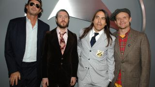 Chad Smith, John Frusciante, Anthony Kiedis and Flea in 2007