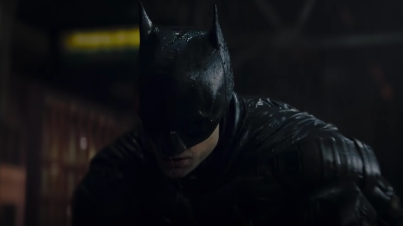 The Batman staring at the ground